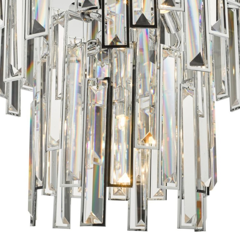 Dar-ODI0650 - Odile - Crystal & Polished Chrome 6 Light Chandelier
