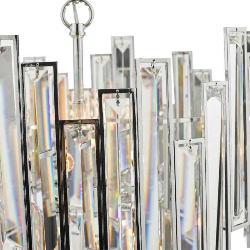 Dar-ODI0650 - Odile - Crystal & Polished Chrome 6 Light Chandelier
