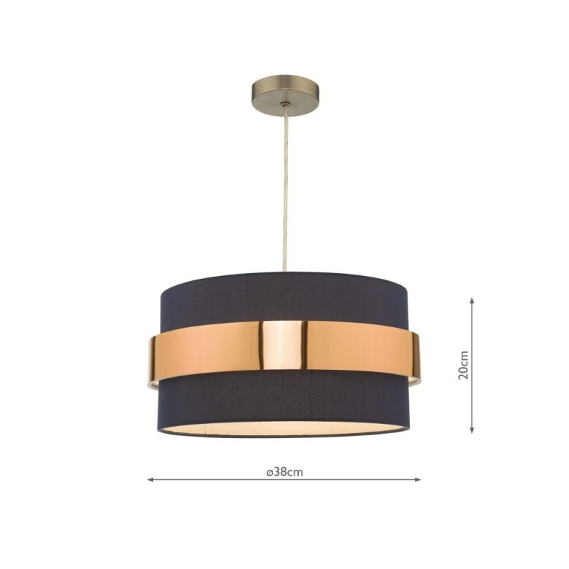 Wisebuys-OKI6523 - Oki - Navy & Copper Shade for Pendant