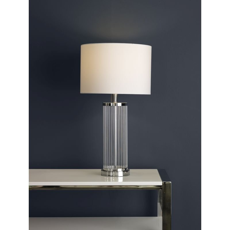 Dar-OLA4350-X - Olalla - Ivory Shade with Glass Rods Table lamp