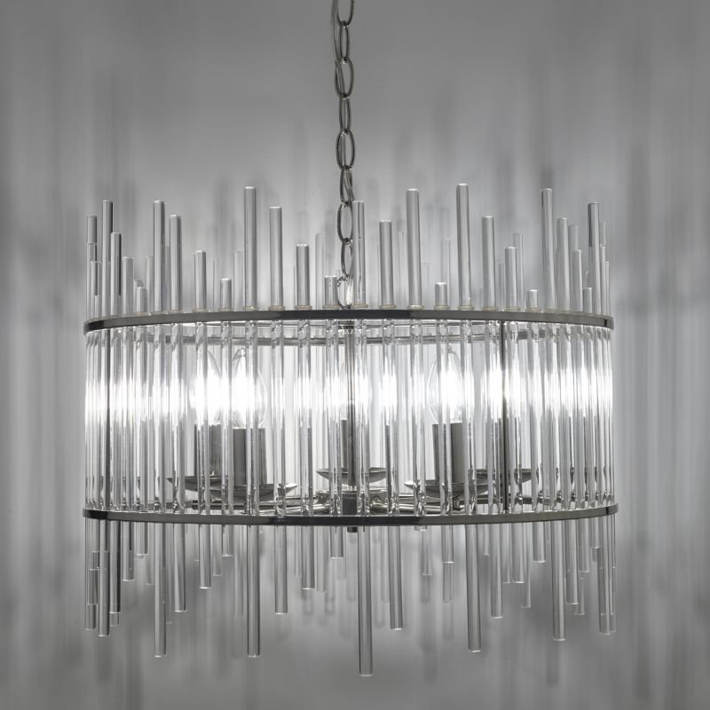 Dar-OLY0538 - Olyn - Decorative Glass Rods 5 Light Hanging Pendant