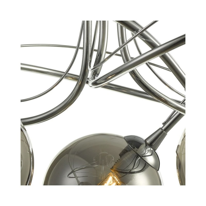Wisebuys-ONA5350-01 - Onawa - Smoky Glass & Chrome 3 Light Semi Flush