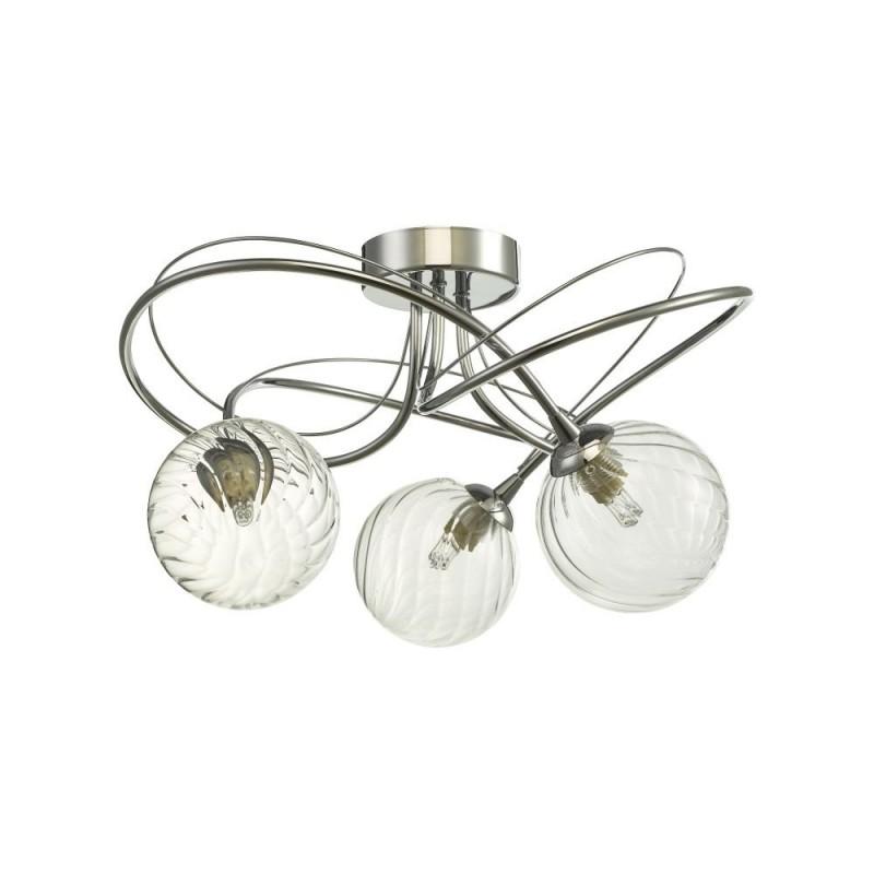 Wisebuys-ONA5350-03 - Onawa - Twisted Glass & Chrome 3 Light Semi Flush