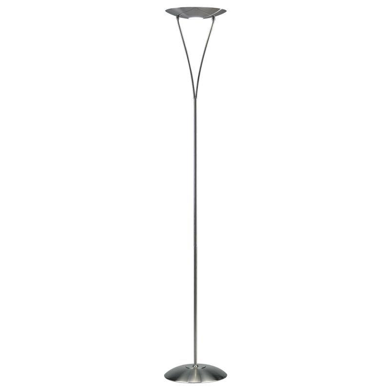 Wisebuys-OPU4946 - Opus - Satin Chrome Uplighter Floor Lamp