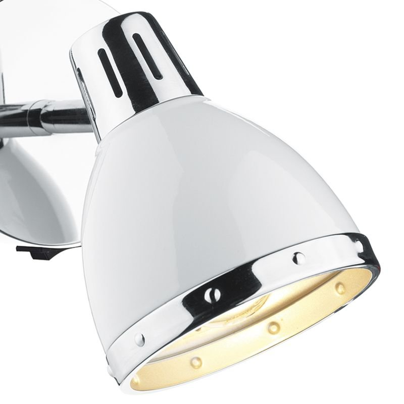 Dar-OSA072 - Osaka - Modern White and Polished Chrome Spotlights Wall Lamp