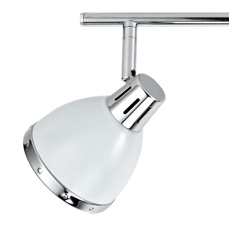 Dar-OSA842 - Osaka - Modern White and Polished Chrome 4 Spotlights