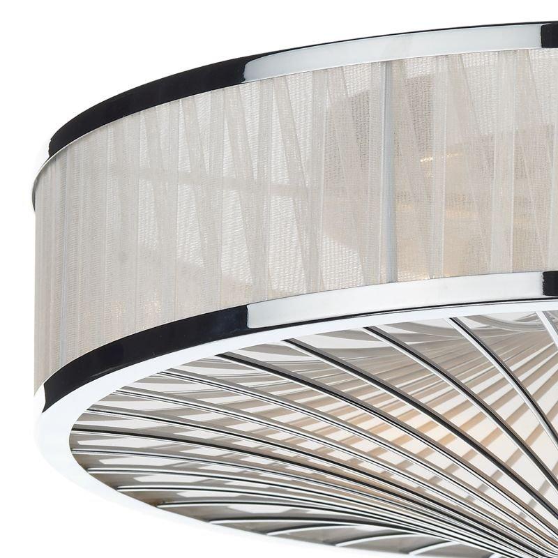 Dar-OSL5050 - Oslo - Decorative Organza Ribbon 3 Light Ceiling Lamp