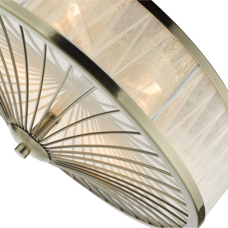 Dar-OSL5075 - Oslo - Decorative Organza Ribbon 3 Light Flush