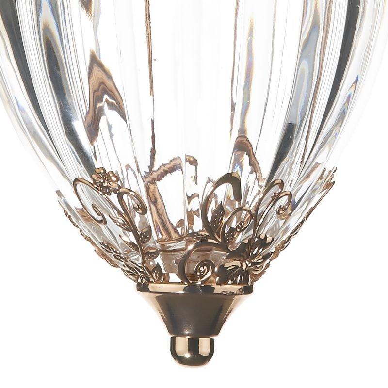 Dar-OTT0135 - Ottoman - French Gold with Glass Single Lantern Pendant
