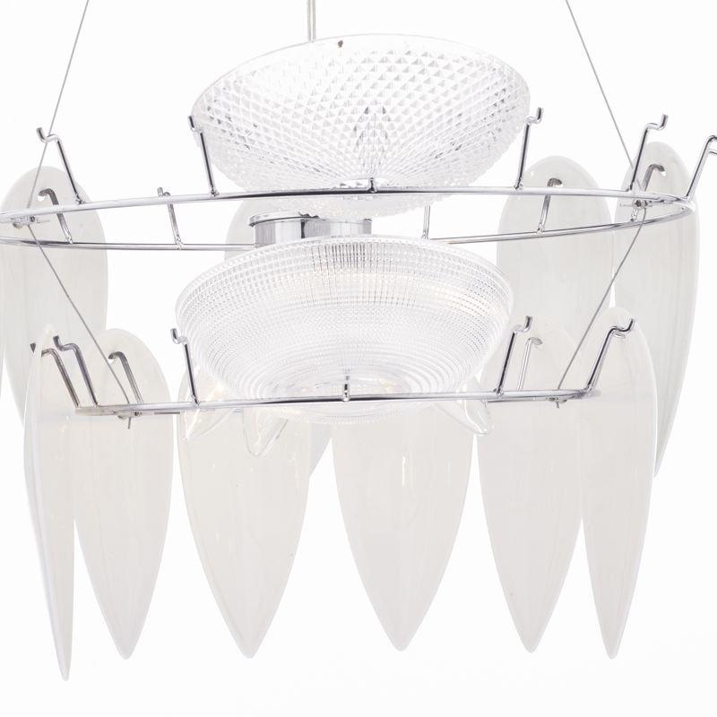 Dar-PHI032 - Phillipa - White Ceramic Petals 3 Light Hanging Pendant