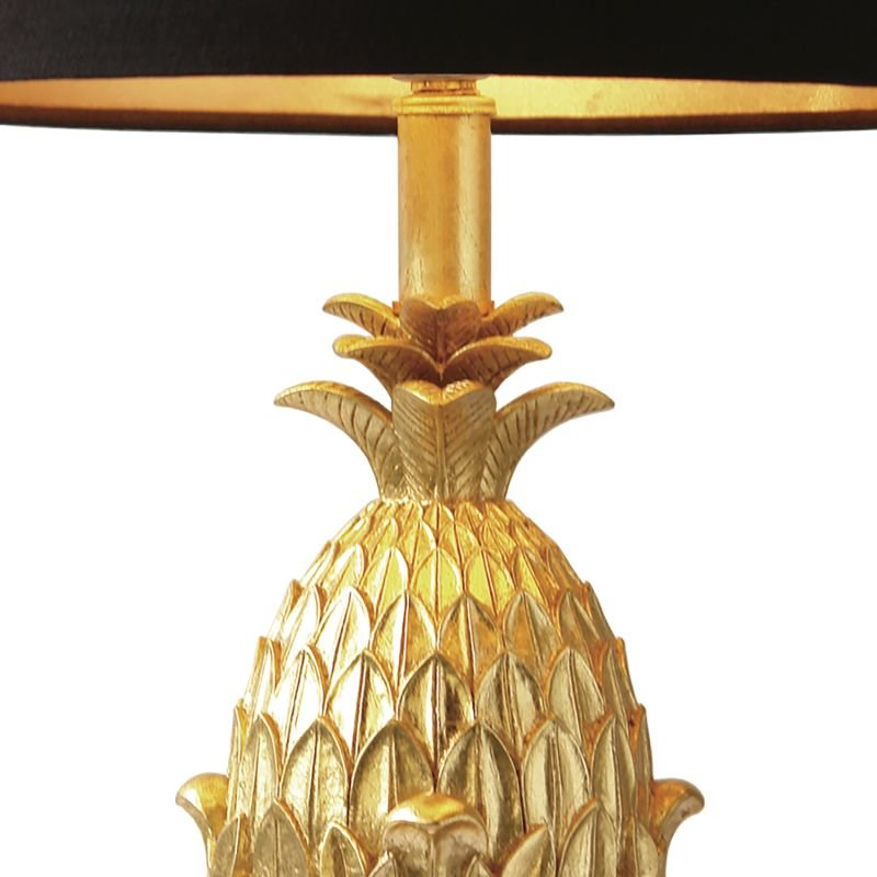 Dar-PIN4235 - Pineapple - Black and Gold Pineapple Table Lamp