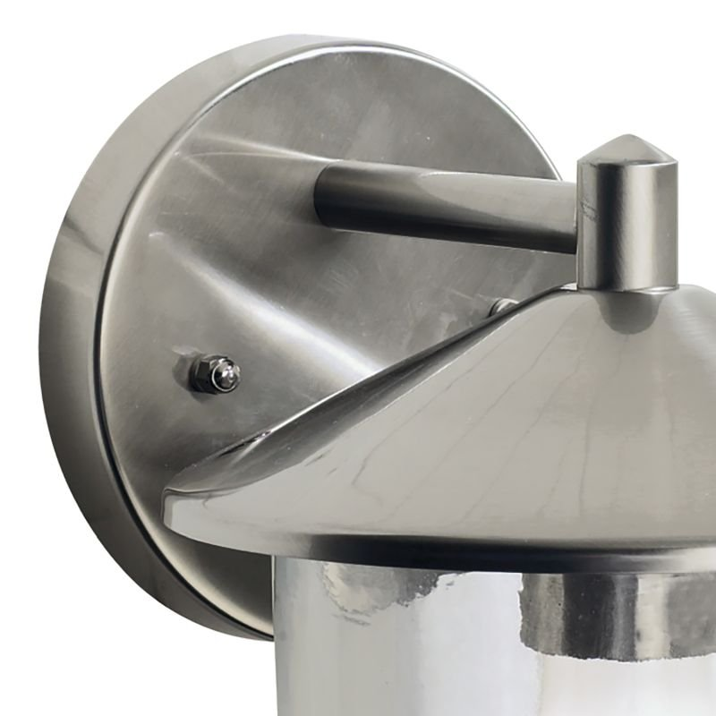 Dar-POO1544 - Poole - Outdoor Stainless Steel with Glass Wall Lamp