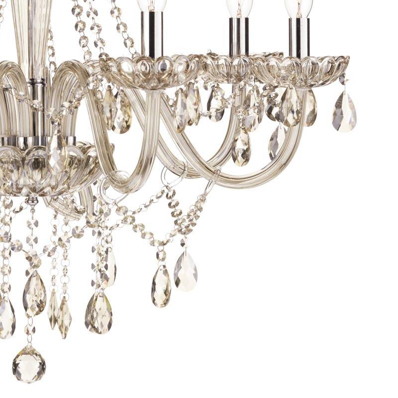 Dar-RAP0806 - Raphael - Champagne Crystal with Chrome 8 Light Chandelier