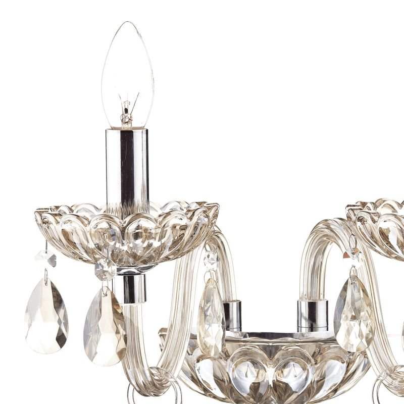 Dar-RAP0906 - Raphael -  Champagne Crystal with Chrome 2 Light Wall Lamp