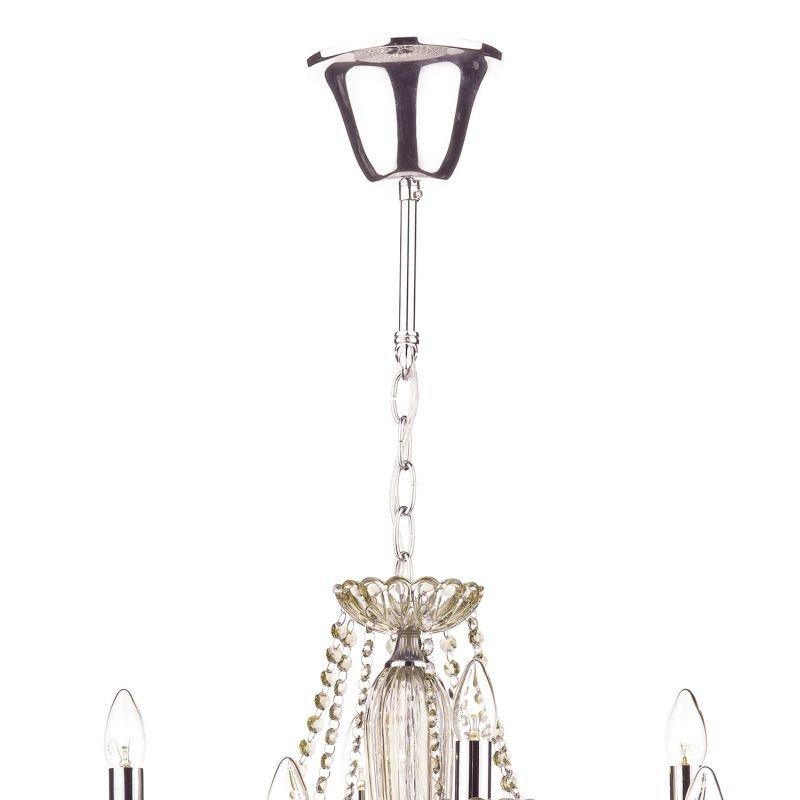 Dar-RAP1206 - Raphael - Champagne Crystal with Chrome 12 Light Chandelier