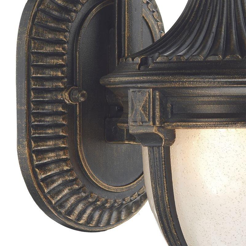 Dar-RIC3235 - Richmond - Outdoor Black and Gold Lantern Wall Lamp