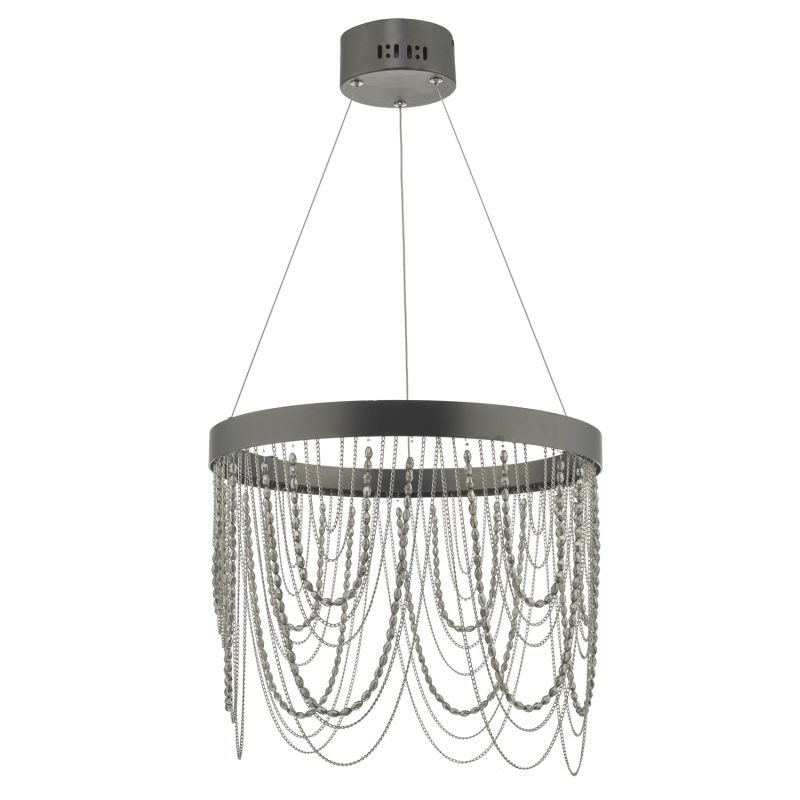 Dar-ROE8663 - Roella - LED Bronze Chain and Bead Hanging Pendant