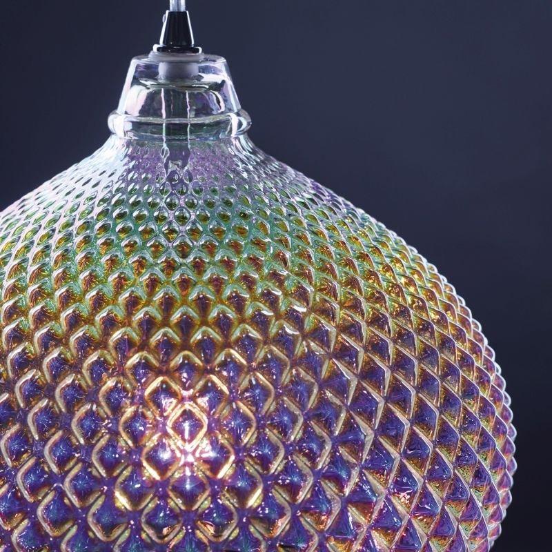 Dar-ROI0155 - Roisin - Multi Colour Glass & Polished Chrome Pendant