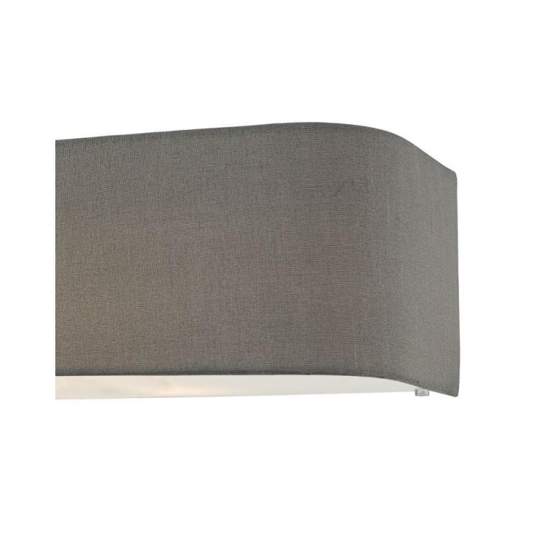 Dar-RON0939 - Ronda - Grey Fabric with Diffuser 2 Light Wall Lamp