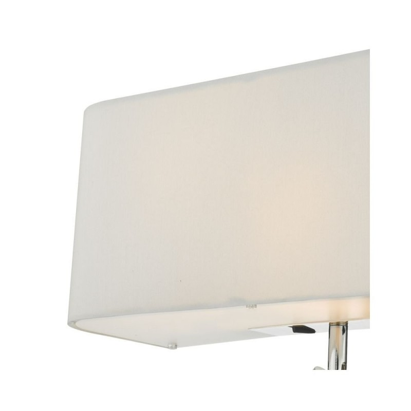 Dar-RON712L - Ronda - Ivory Fabric with Diffuser 3 Light Double Wall Lamp