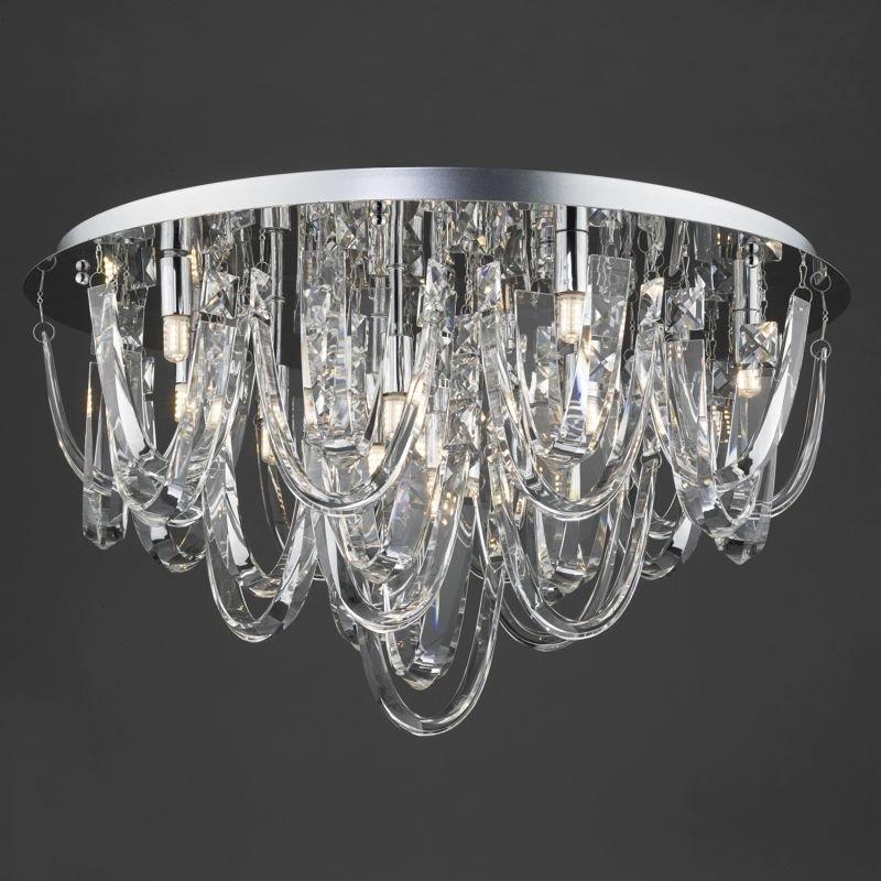 Dar-ROX4850 - Roxanne - Crystal & Polished Chrome 11 Light Ceiling Lamp