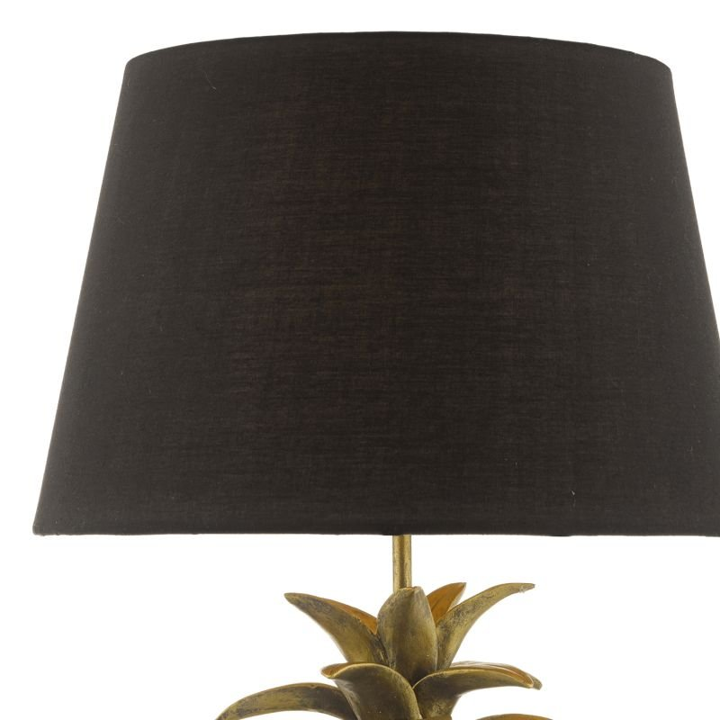 Dar-SAF4235 - Safa - Black and Gold Pineapple Table Lamp