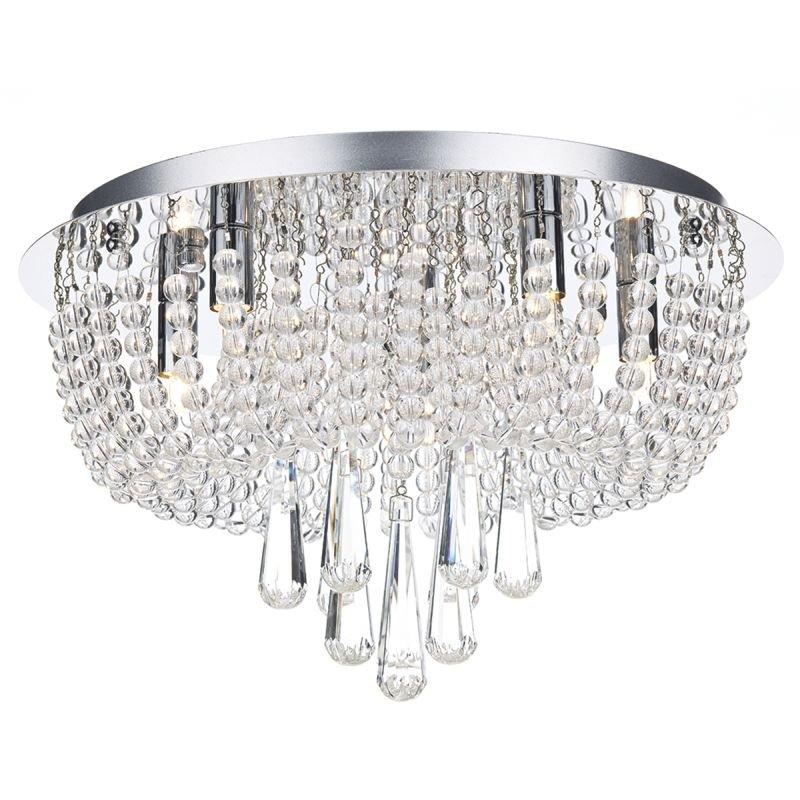 Dar-SAI5450 - Saigon - Decorative Crystal with Chrome 5 Light Ceiling Lamp