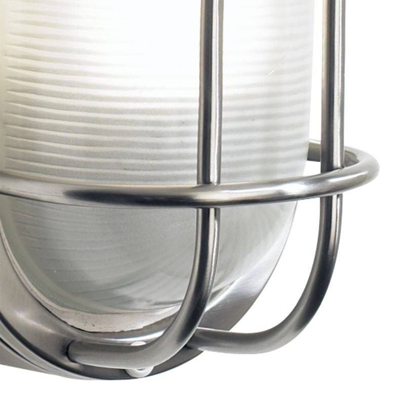 Dar-SAL5244 - Salcombe - Outdoor Stainless Steel with Glass Wall Lamp