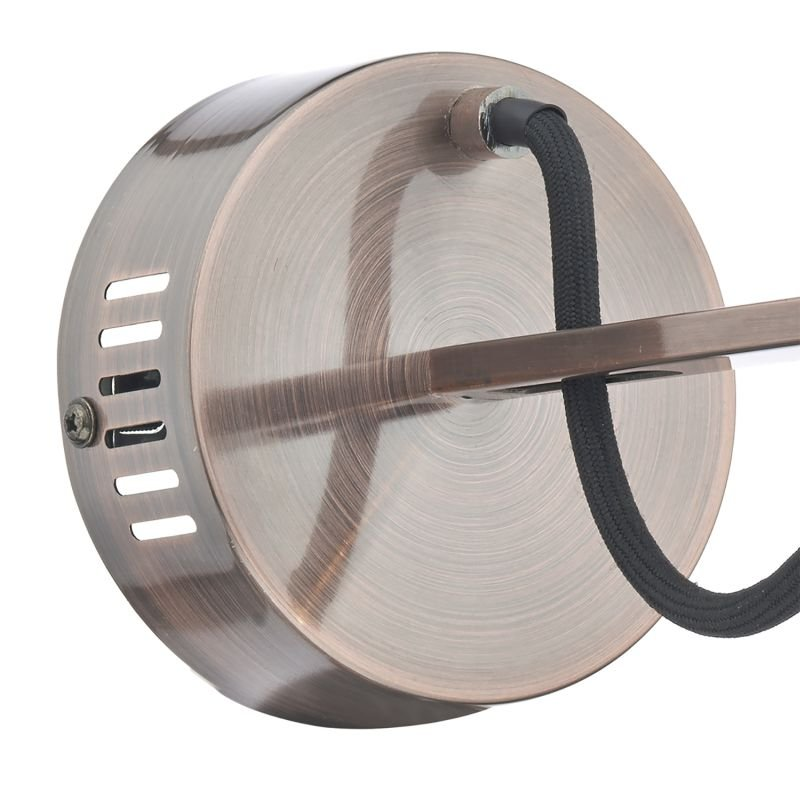 Dar-SCR0764 - Scroll - Transparent Glass with Copper Single Wall Lamp