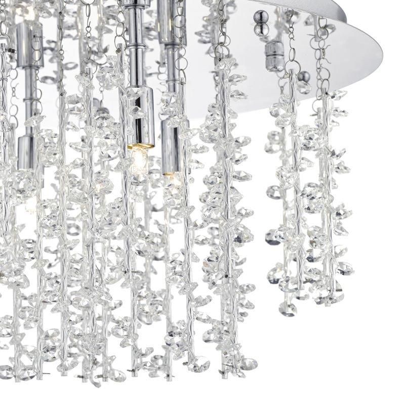 Dar-SES5350 - Sestina - Decorative Rods And Crystal Beads 5 Light Ceiling Lamp