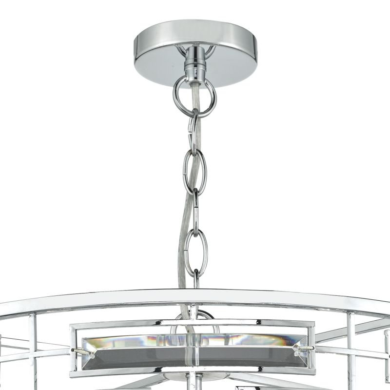 Dar-SEV0650 - Seville - Polished Chrome and Crystal 6 Light Pendant
