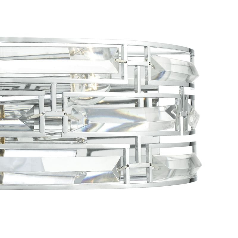 Dar-SEV0950 - Seville - Polished Chrome and Crystal 2 Light Wall Lamp