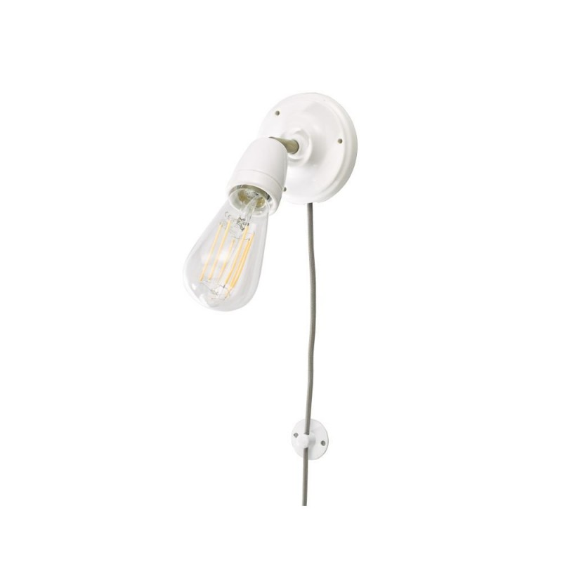 Dar-SIK072 - Sika - White Ceramic & Antique Brass Wall Lamp