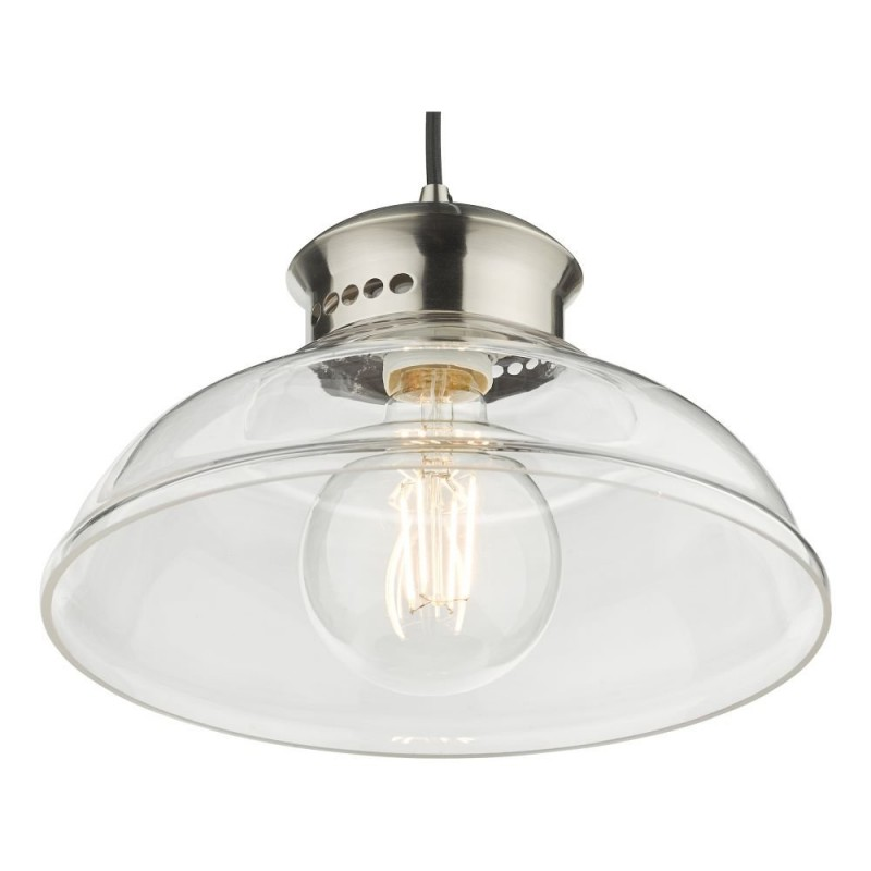 Dar-SIR0161 - Siren - Clear Glass with Antique Chrome Pendant