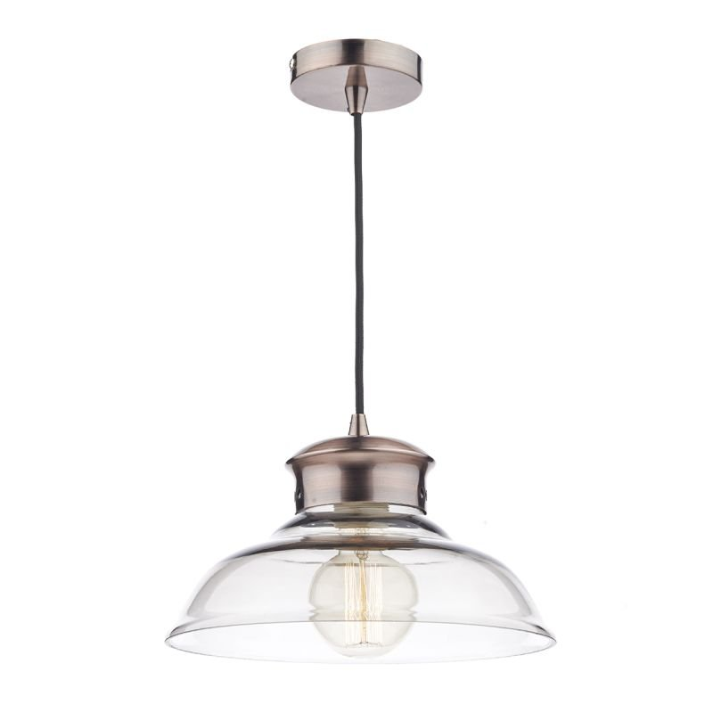 Wisebuys-SIR0164 - Siren - Clear Glass with Antique Copper Pendant