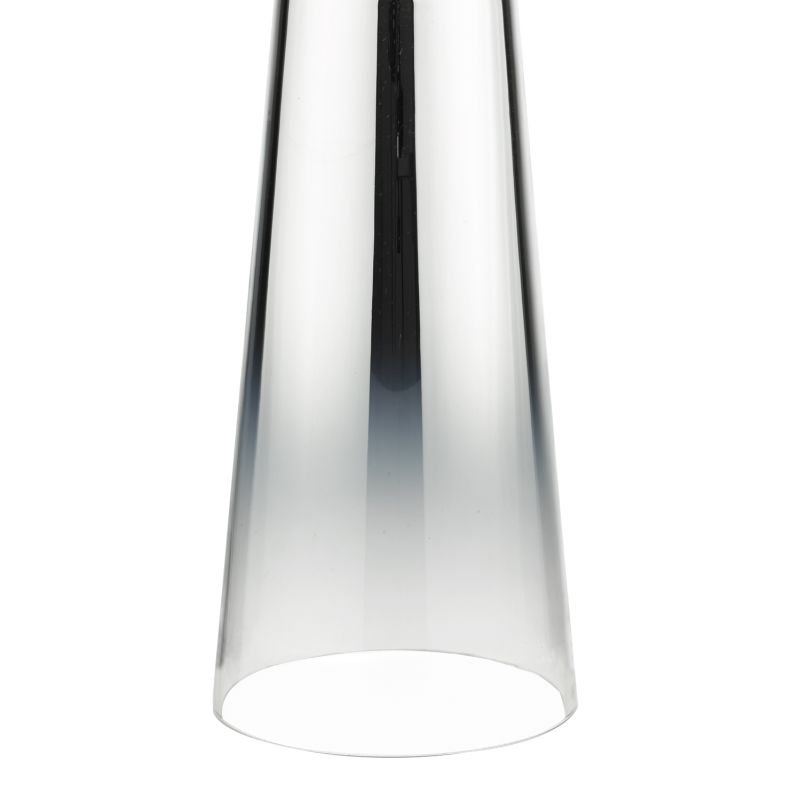 Dar-SMO4250 - Smokey - White Cotton Shade with Chromed Glass Table Lamp