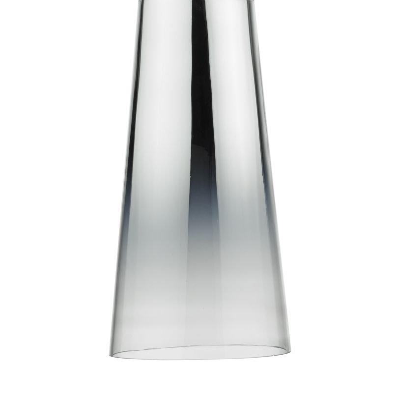 Dar-SMO6550 - Smokey - Chromed Glass Shade for Hanging Pendant