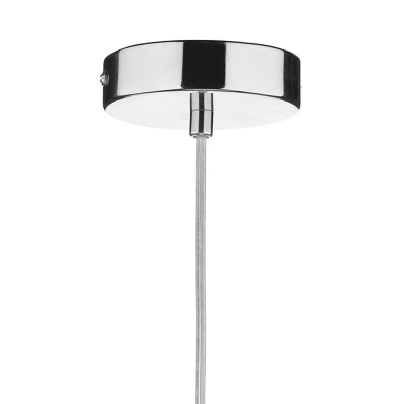 Dar-SOH0122 - Soho - Black Glass with Polished Chrome Hanging Pendant