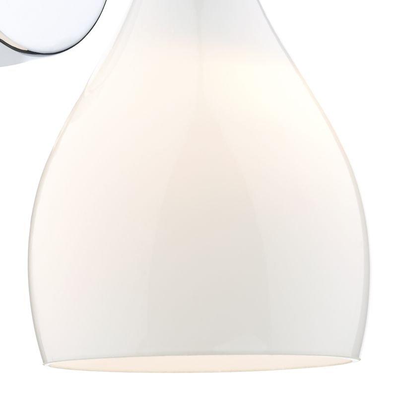 Dar-SOH072 - Soho - White Glass with Polished Chrome Single Wall Lamp