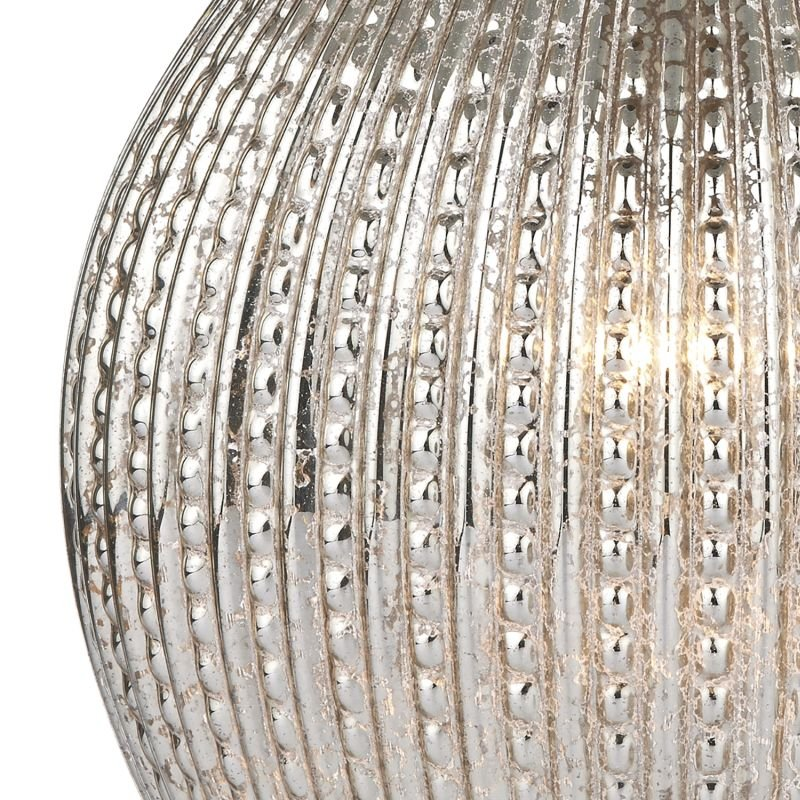 Dar-SON4232 - Sona - Antique Silver Glass With Taupe Shade Table Lamp