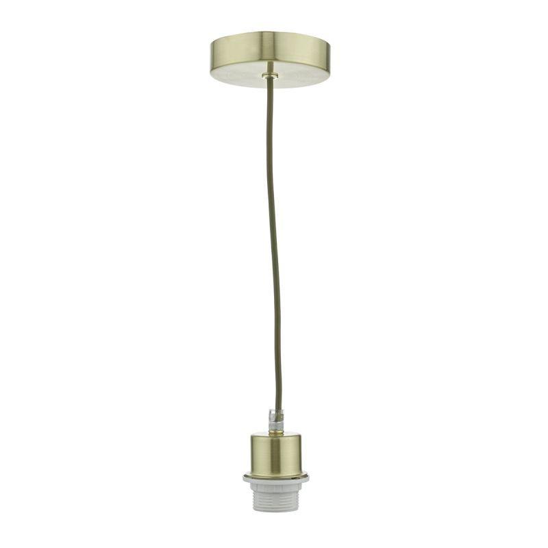Dar-SP63 - Cord set - Satin Brass E27 Suspension