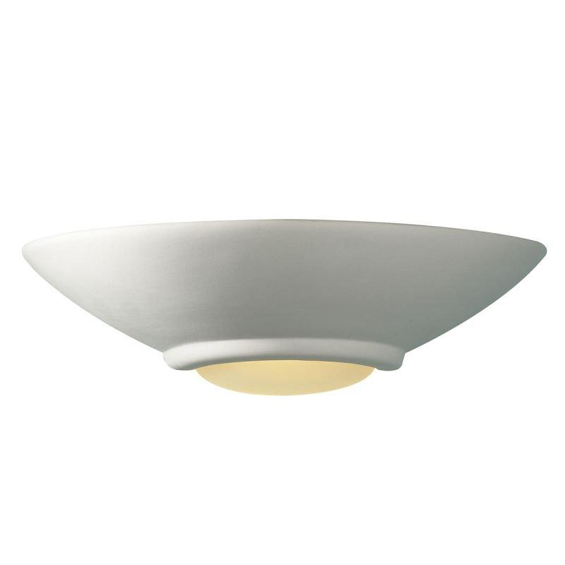 Dar-STE0748 - Stella - Washer White Ceramic Up&Down Round Wall Lights