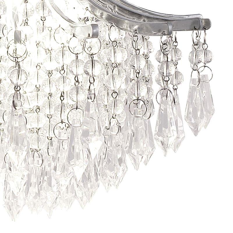 Dar-SUR0150 - Suri -  Crystal with Polished Chrome Single Hanging Pendant
