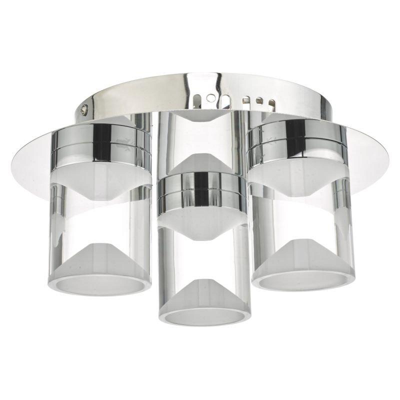 Dar-SUS5350 - Susa - Bathroom LED White & Polished Chrome 3 Light Flush