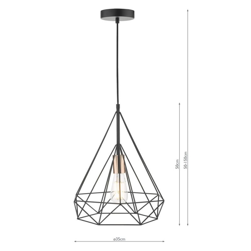 Dar-SWO0122 - Sword - Black & Copper Single Pendant