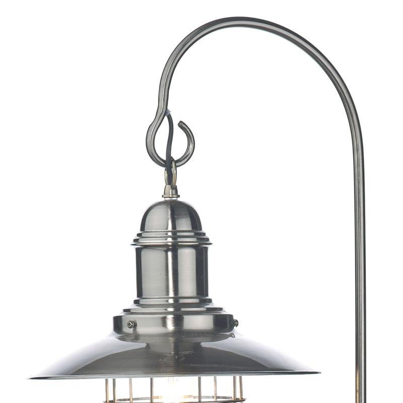 Dar-TER4961 - Terrace - Antique Chrome Fishermans Floor Lamp