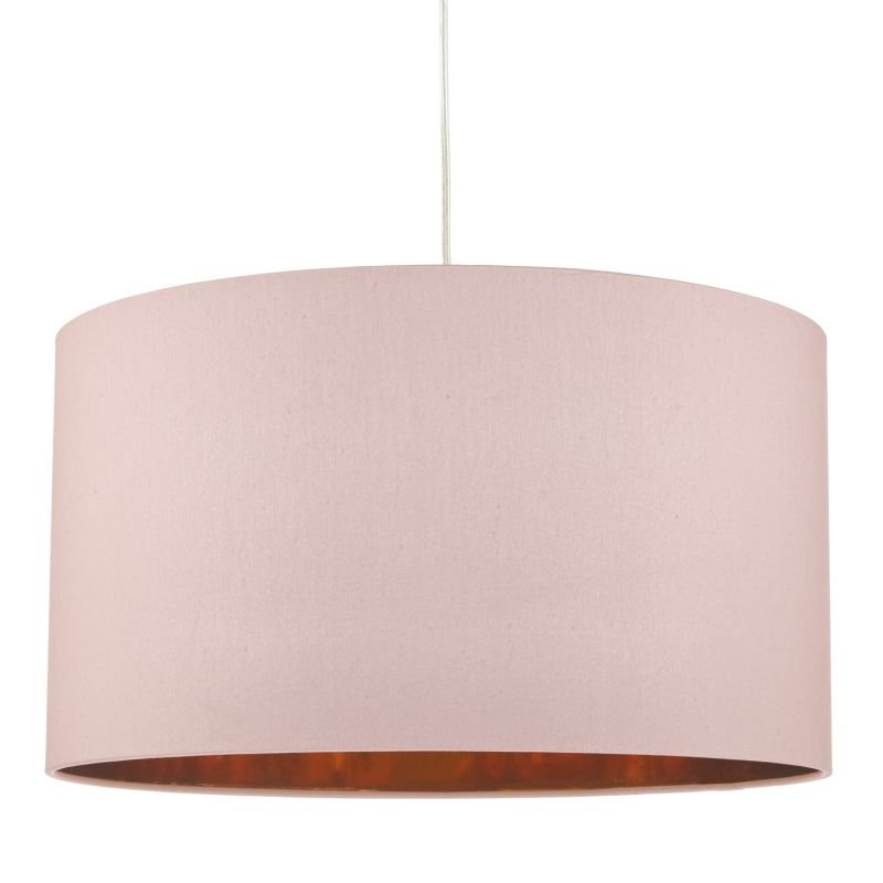 Dar-TIM6503 - Timon - Pink and Copper Fabric Shade for Hanging Pendant