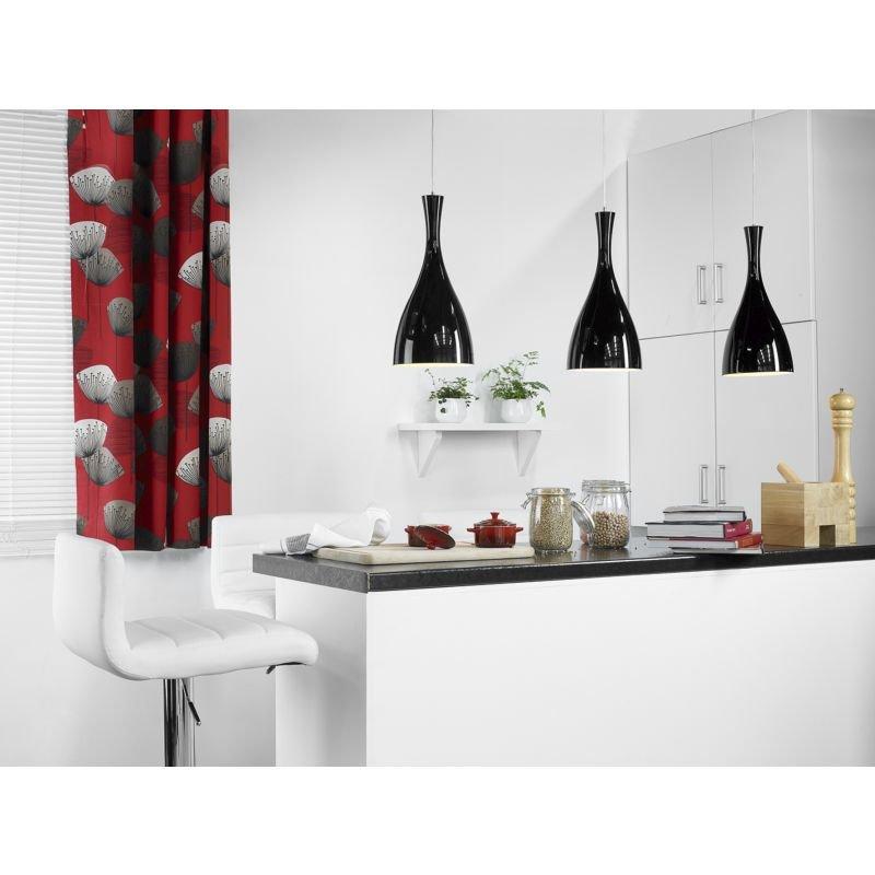 Dar-TON862 - Tone - Big White Glass with Polished Chrome Hanging Pendant