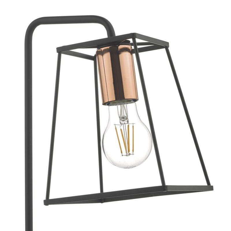 Dar-TOW4122 - Tower - Black & Copper Cage Table Lamp