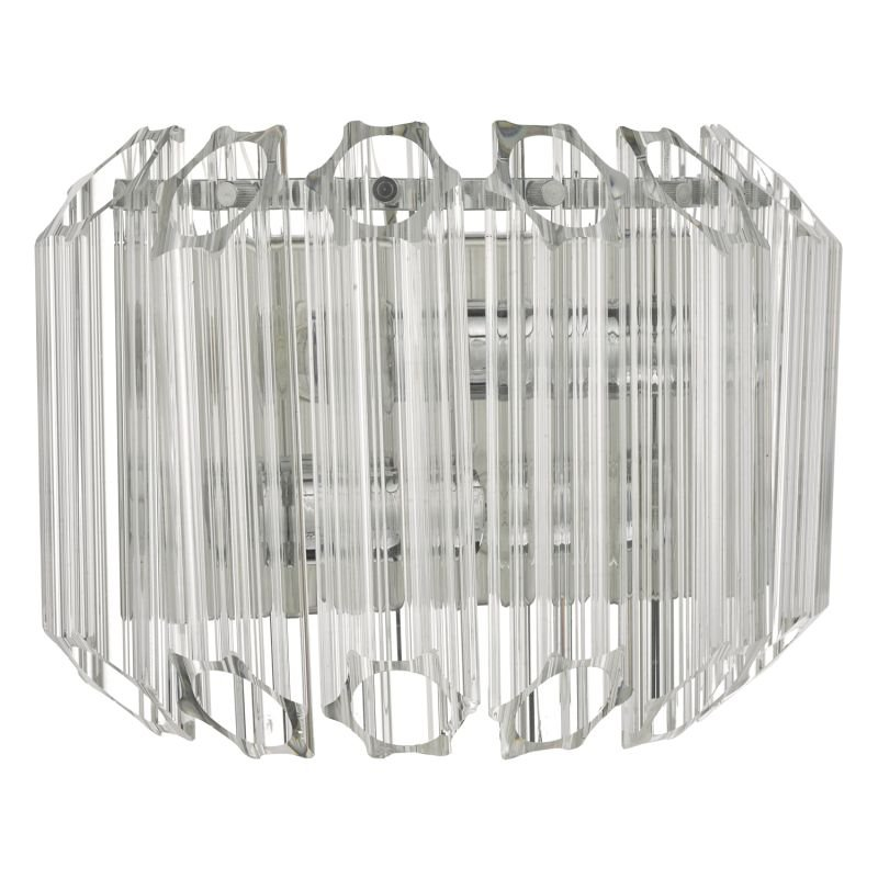 Dar-TUV0908 - Tuvalu - Decorative Fluted Glass 2 Light Wall Lamp